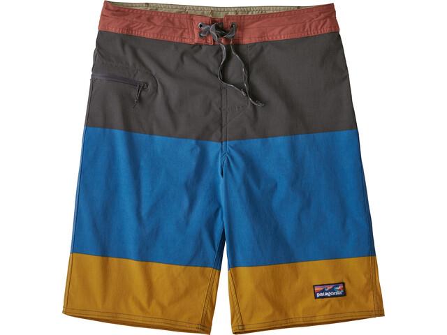 "Patagonia Stretch Wavefarer Boardshorts 21"" Men color block breakup: seaport"